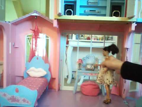 Tour of my barbie dream house, 3 story houseenjoy (: