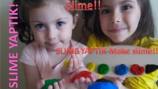Slime ve zıp zıp top yapmayı denedik.The Most Beautiful Mixed Slime