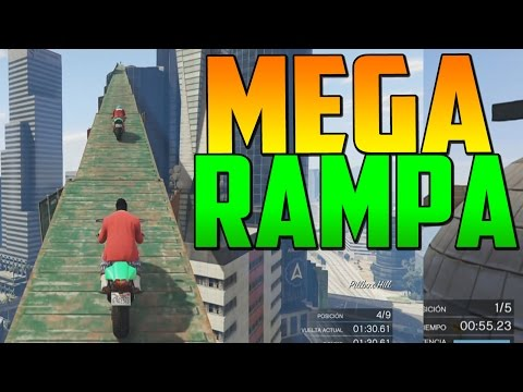 MEGA RAMPA GIGANTE! – Gameplay GTA 5 Online Funny Moments (Carrera GTA V PS4)
