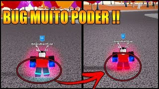 VAZOOU NOVO BUG DE MUITO PODER NO SUPER POWER TRAINING SIMULATOR !!! (ROBLOX)