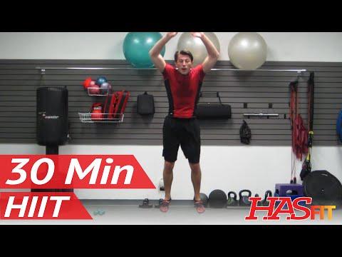 HASfit's Ultimate Warrior 30 Minute Workout w/ Plyometrics Strength Cardio Abs & MMA w/ Coach Kozak