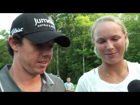 McIlroy and Wozniacki interview before Deutsche Bank