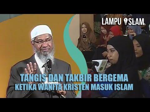 TANGIS DAN TAKBIR BERGEMA Ketika WANITA KRISTEN MASUK ISLAM | Dr. Zakir Naik UMY Yogya 2017