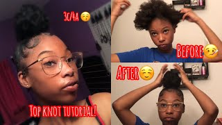 SLEEK High Bun On THICK Short Natural Hair Using ONE Bundle!!(3c/4a Natural Hair)