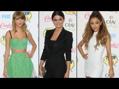 Teen Choice Awards 2014 – Best Dressed At Red Carpet – Selena Gomez, Ariana Grande, Taylor Swift