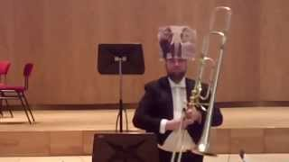 "Matyas Veer plays ""The Carnival of the Animals - Elephant"" with contrabass trombone"
