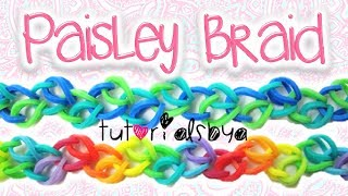 NEW Paisley Braid Rainbow Loom / Monster Tail Bracelet Tutorial | How To