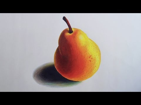Pear Speed drawing (Prismacolor Pencils)