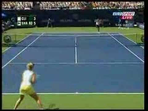 Tennis: 2006 Rally of the Year: Kim Clijsters - Maria Sharapova