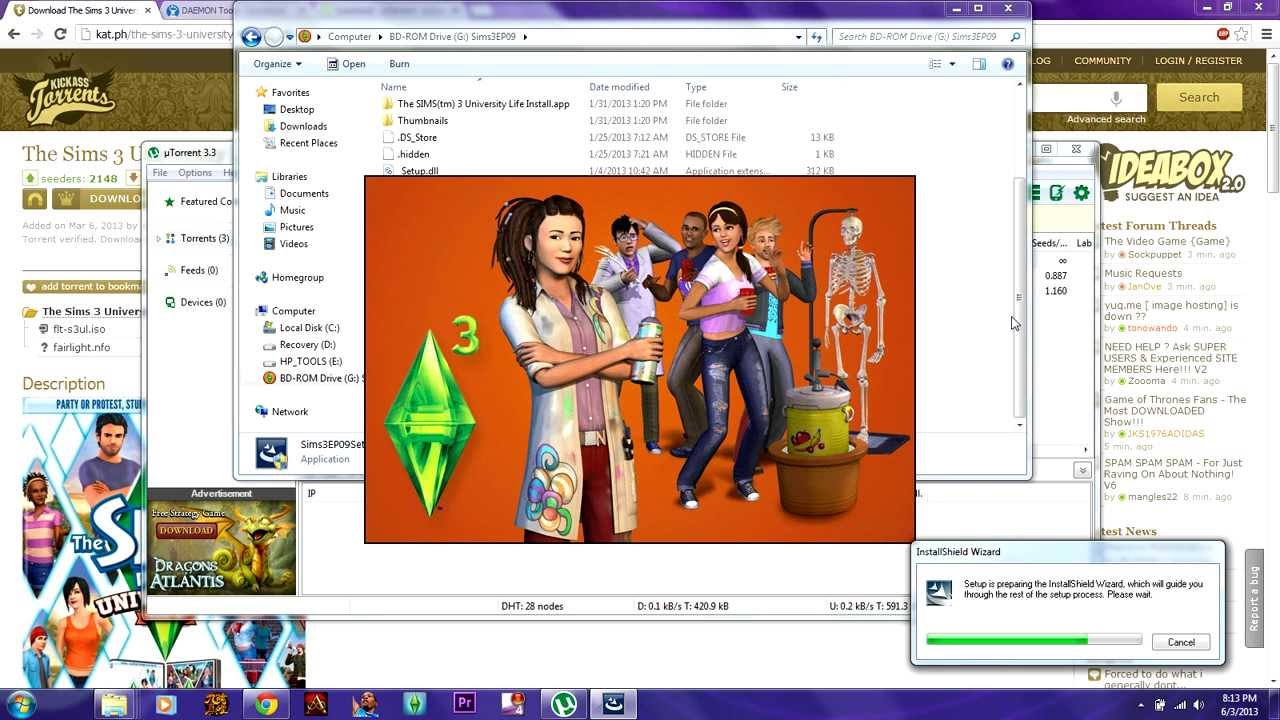 how to get sims 3 university life free