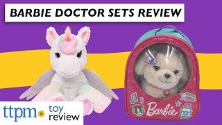 Barbie Kiss & Care Doctor Set and Barbie Dreamtopia Unicorn Doctor Set from Just Play