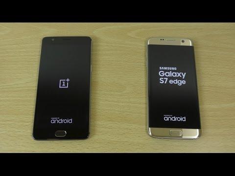 OnePlus 3 VS Samsung Galaxy S7 Edge - Speed Test! (4K)