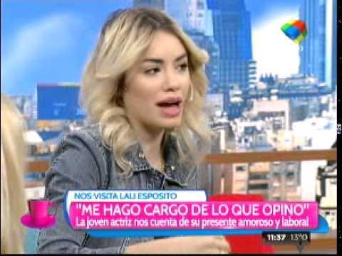 Lali Espósito habló de Peter Lanzani y de Violetta