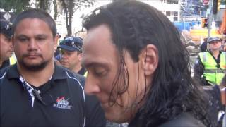 Tom Hiddleston meeting Fans from Thor 3 Set Filming in Brisbane City