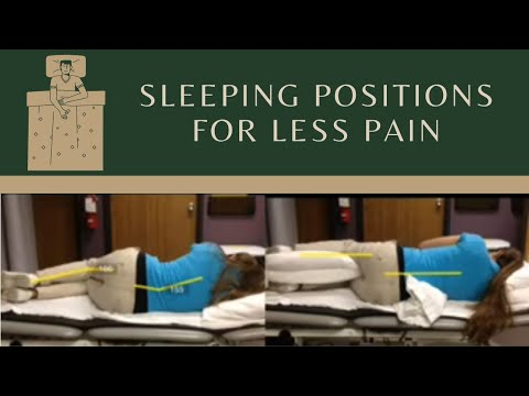 Sleeping position to decrease low back pain sciatica for Best sleeping position to relieve back pain