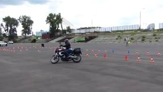 Ткачук Дар'я, Kawasaki Versus 650, 1 й заїзд, Клас C, Moto Gymkhana Kiev Cup 2018, 4 й етап
