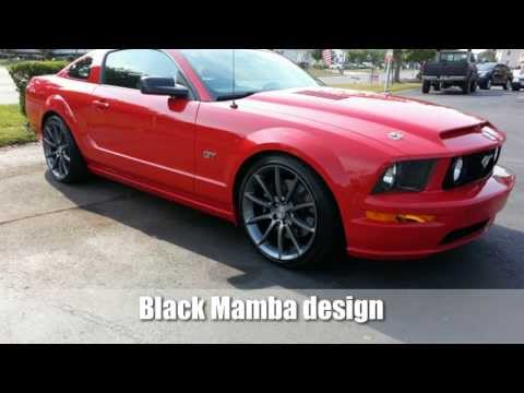 Black Mamba Mustang Wheels ▶ Ford Mustang Black Mamba