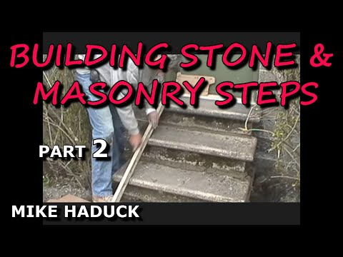 How i build stone or masonry steps part 2 of 6 mike for How to make cement at home