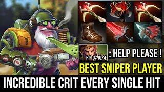 CRIT EVERY SINGLE HIT - Cancer Sniper Build 2x Daedalus + Crystalys 90% Crit Hack 2Hits=K O Dota 2
