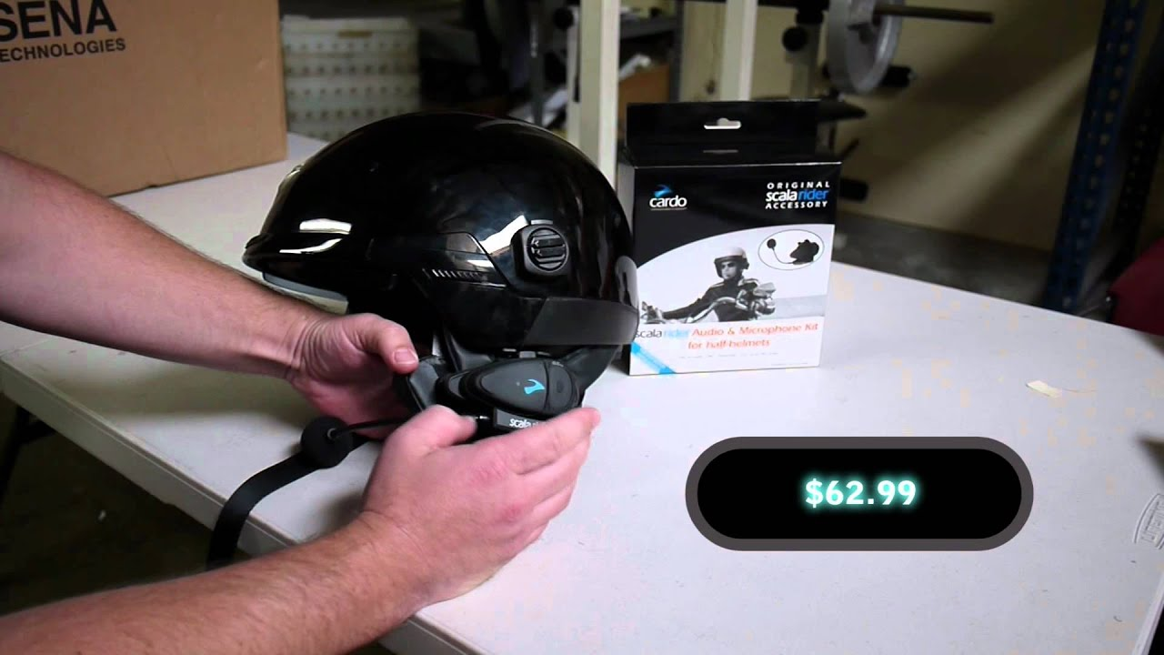Cardo Scala Rider Half Helmet Headset For Bluetooth