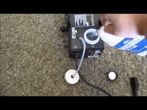 how to use a fog machine
