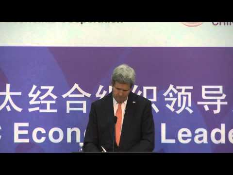 Secretary Kerry Delivers Remarks to the Press During the APEC Ministerial Meeting