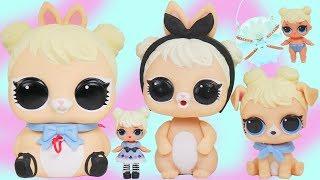 LOL Surprise Biggie Pets Curious QT + Big Brothers Barbie Dolls   Toy Video