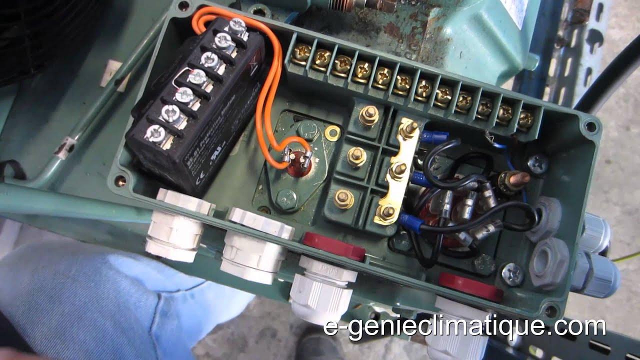 Froid58 montage3 pr sentation chambre froide n gative compresseur semi herm tique 1 4 youtube - Schema electrique chambre froide ...