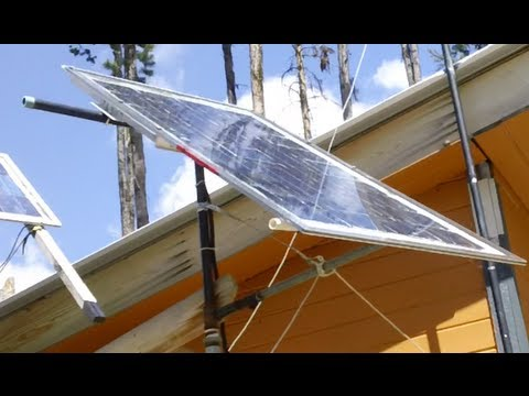 Rotating Solar Panel Mount For Manual Sun Tracking Youtube