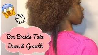 2 Month Old Individual& Crochet Box Braid Takedown + MAJOR GROWTH RESULTS!