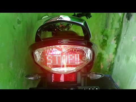 Membuat  Lampu Rem Belakang Runing Text / Tulisan Berjalan Di Yamaha Vixion