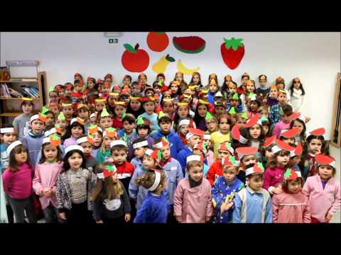 Hino da Fruta 2013/2014 - JI/1�CEB, Centro Escolar de Carnide - Leiria