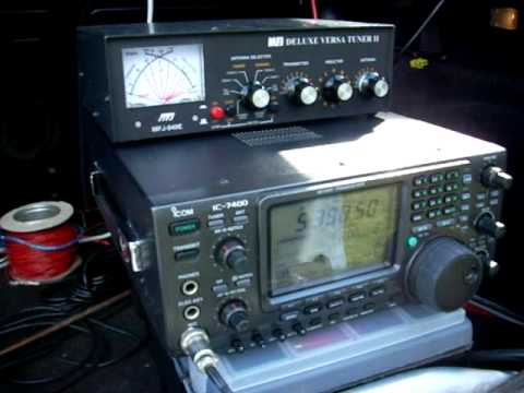 Amateur radio 5 Mhz portable by M0TAZ and M0UKD