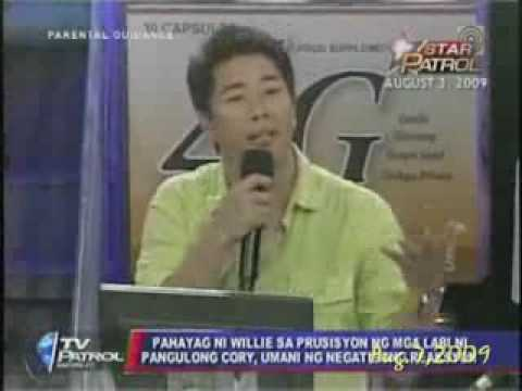 TV PATROL: Willie Revillame Nagsorry