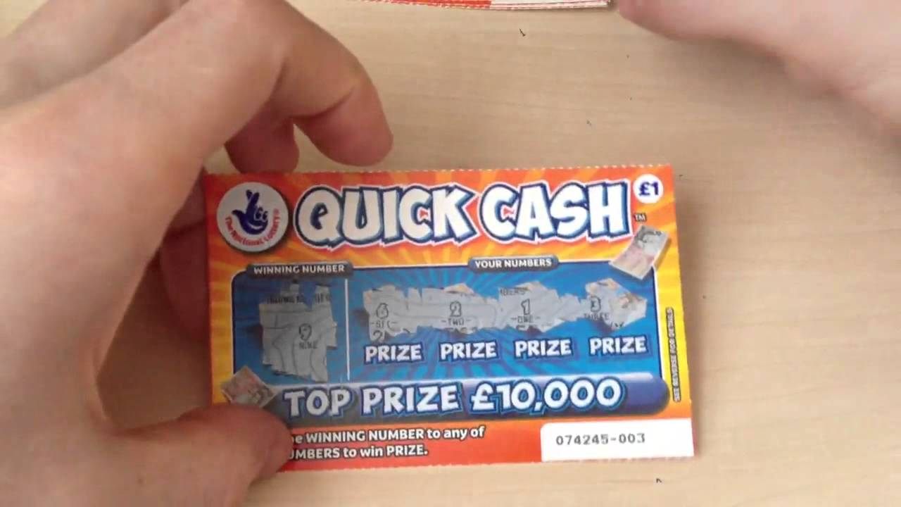 National lottery scratchcards new quick cash - YouTube