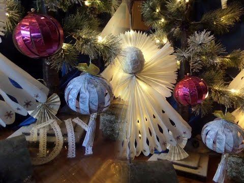 Weihnachtsbaum Schmuck Selber Machen Papier Deko Kugel Für