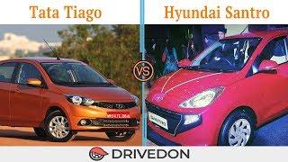 Hyundai Santro 2018 vs Tata Tiago 2018 - Features & Specs Review - Best Hatchback Car in India