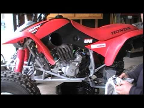 Honda TRX 400EX Brake Replacement. Chain Adjustment and Oil Change