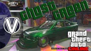 GTA 5 Online | Ghost Green Paint Job 1.43 *Modded Hex Code* (GTA 5 Online Rare Paint Jobs)