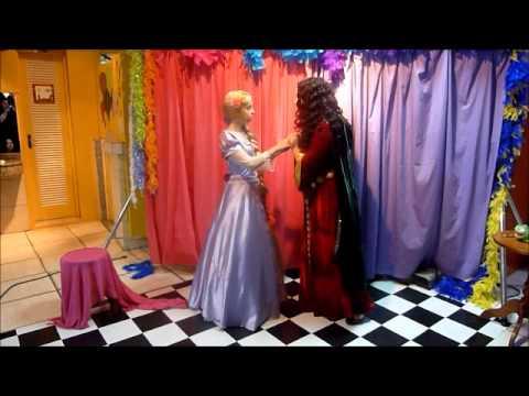 Contando Histórias Rapunzel - Personagens vivos - Era Uma Vez... Princesas