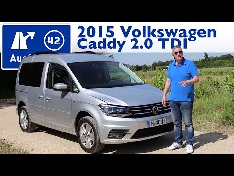 2015 VW Caddy 2.0 TDI Comfortline 150 PS -  Test / Fahrbericht / Review (German)