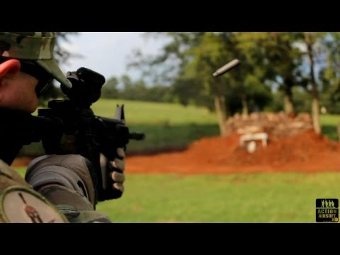 COLT LE6920 M4 Shooting 100 Rounds 5.56 NATO SLOMO IMPACT 1080 HD DSLR