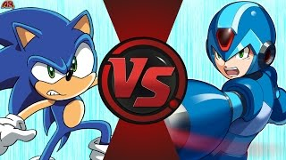 ARCHIE SONIC vs MEGA MAN X (Sega vs Capcom) Cartoon Fight Club Episode 166