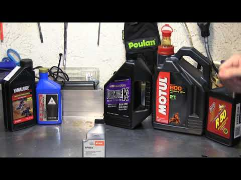 Best 2 cycle oil for use in a chainsaw, and what oil I recommend.