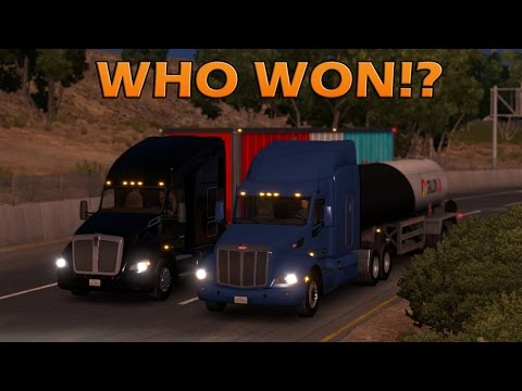 KENWORTH vs PETERBILT - American Truck Simulator
