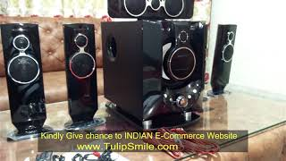 Audio test of Zebronics Whale 5.1 speaker www.TulipSmile.com