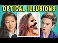 10 MIND BLOWING OPTICAL ILLUSIONS #3 with TEENS & COLLEGE KIDS (React)