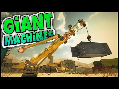 Giant Machines 2017 ➤ Giant Crane, Wood Cutting, & Tornado! Let's Play Giant Machines 2017 Gameplay
