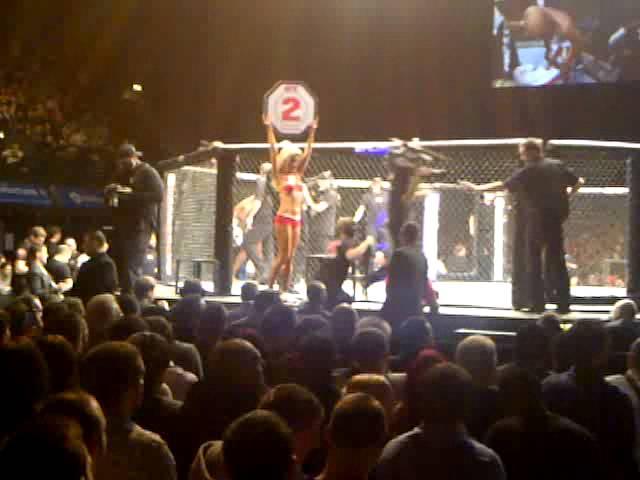 CARLY BAKER UFC EUROPEAN OCTAGON GIRL IN ACTION