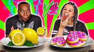 SOUR VS SWEET CHALLENGE!